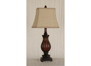 Table Lamp Brown and Bronze Finish,Mastercraft
