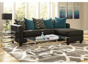 Black Chaise Sectional,NC Upholstery