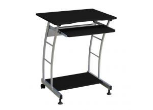 Black / Silver Computer Desk,Home Source Industries