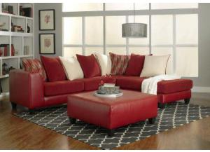 Moondance Red Chaise Sectional,NC Upholstery