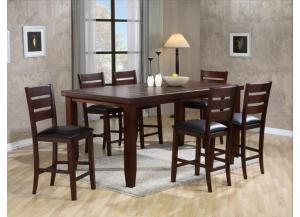 Bardstown Counter Height Dinette with Table and 4 Chairs,Crown Mark