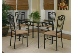 Laurel Dinette Table and 4 Chairs,Cramco Dinettes
